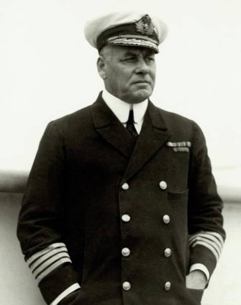Captain Photograph - W. R. D. Irvine Wearing A Naval Uniform by Dana B. Merrill