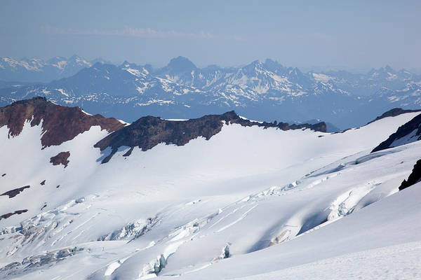 Crevasses Photograph - Wa, Mount Baker, Crevassed Roosevelt by Jamie and Judy Wild