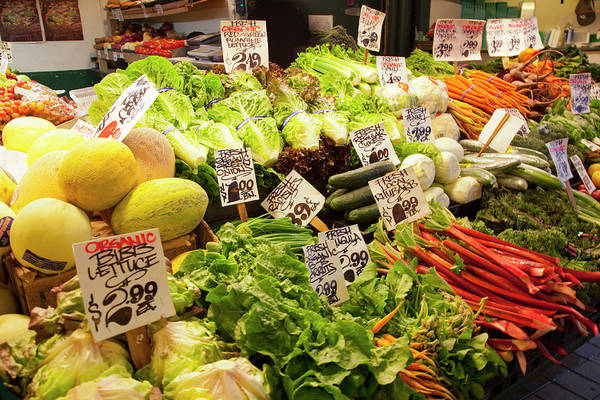 Commerce Photograph - Wa, Seattle, Pike Place Market by Jamie and Judy Wild