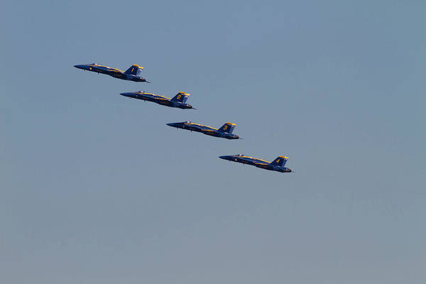A-18 Hornet Wall Art - Photograph - Wa, Seattle, The Blue Angels by Jamie and Judy Wild