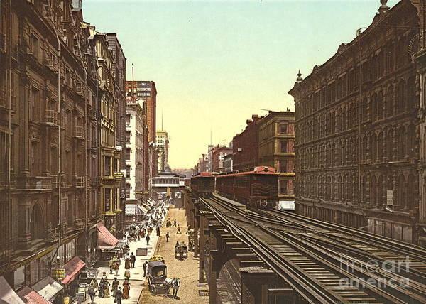 Wabash Avenue Wall Art - Photograph - Wabash Avenue Chicago 1900 by Padre Art