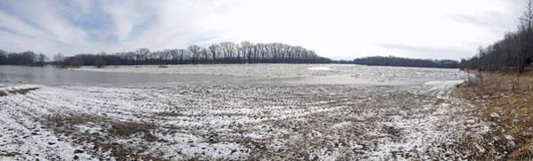 Wabash River Ice Jam Panorama Art Print