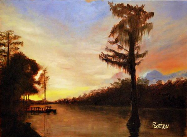Painting - Waccamaw Evening by Phil Burton