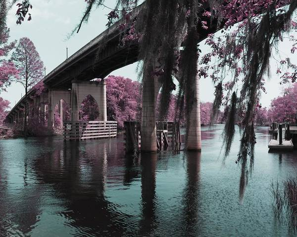 Photograph - Waccamaw River Bridge In April Infrared by MM Anderson