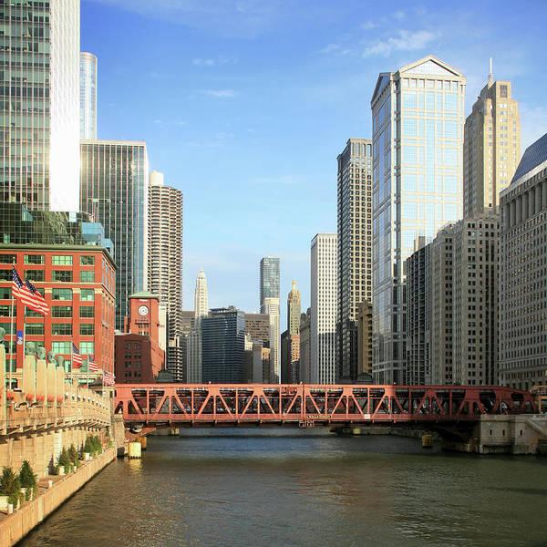 Skyline Drive Photograph - Wacker Drive, Marina Towers, Chicago by Hisham Ibrahim