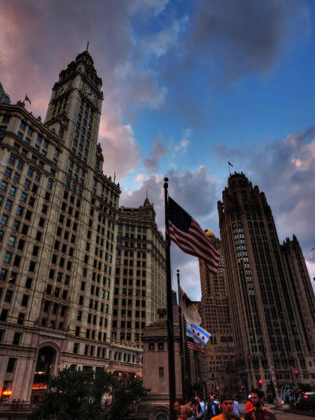 Photograph - Wacker - Michigan Historic District Of Chicago 001 by Lance Vaughn