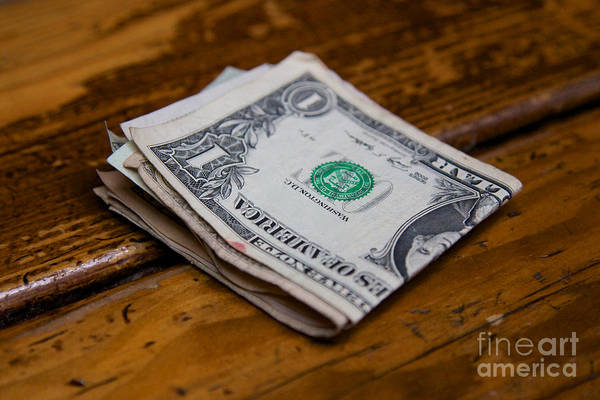 Bar Tender Photograph - Wad Of Cash by Jannis Werner