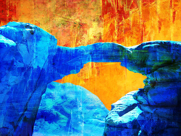 Er Wall Art - Painting - Wadi Rum Natural Arch 2 by Catf