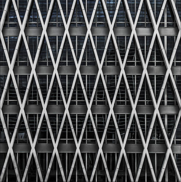 Structure Photograph - Waffle Wall II by Gilbert Claes