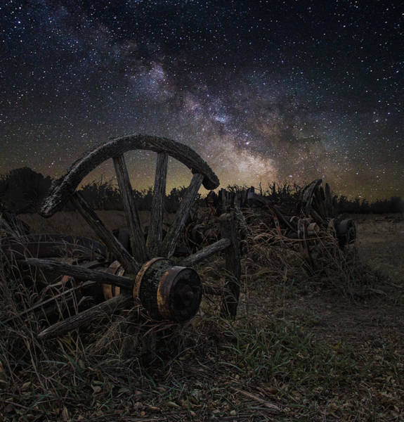 Milky Way Wall Art - Photograph - Wagon Decay by Aaron J Groen