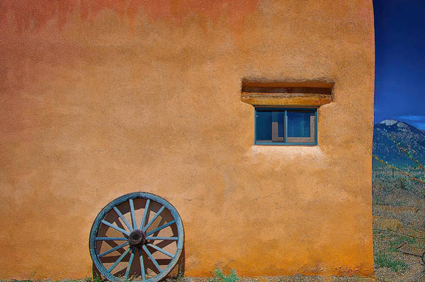 Digital Art - Wagon Wheel Of Taos by Charles Muhle