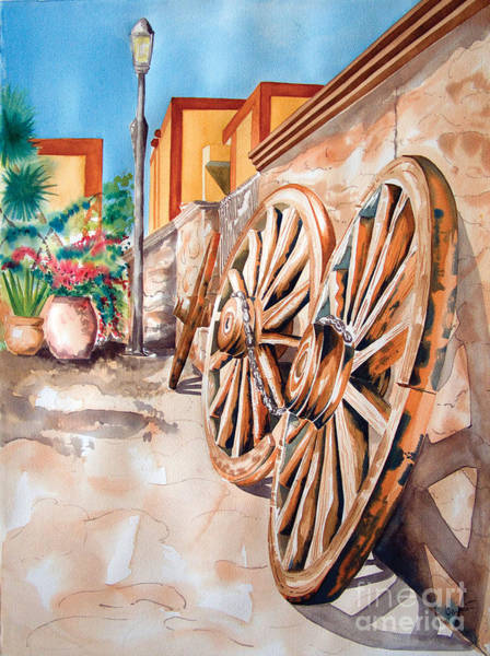 Painting - Wagon Wheels by Kandyce Waltensperger