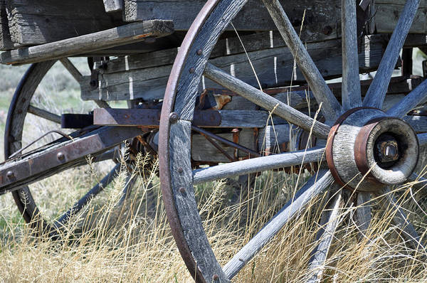 Photograph - Wagon Wheels Nevada City by Bruce Gourley