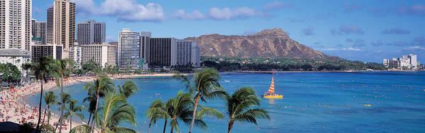 Condos Photograph - Waikiki Beach, Honolulu, Hawaii, Usa by Panoramic Images