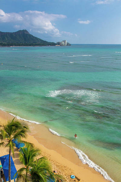 Wall Art - Photograph - Waikiki Beach, Oahu, Hawaii by Douglas Peebles