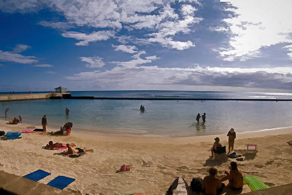 Photograph - Waikiki Breakwater by Gordon Engebretson