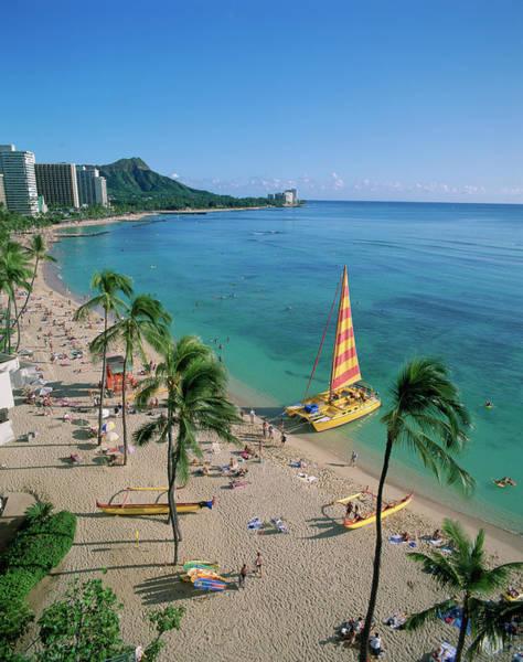 Seacoast Photograph - Waikiki, Oahu, Hawaii, Usa by Douglas Peebles