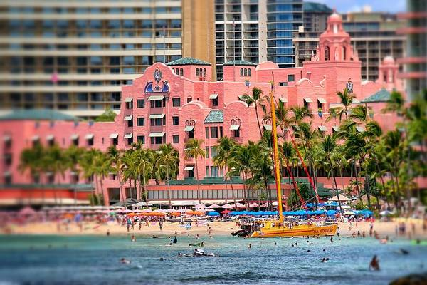 Photograph - Waikiki's Pink Palace by Jim Albritton