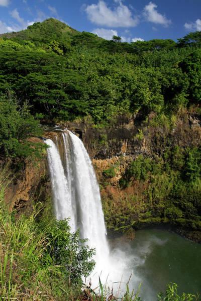 R Photograph - Wailua Falls Located On The Wailua by David R. Frazier