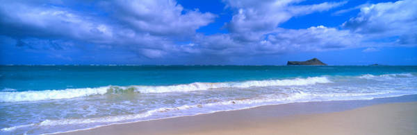 Oceanfront Photograph - Waimanalo Beach Park Manana Island Oahu by Panoramic Images