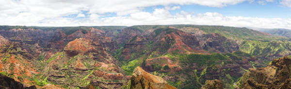 Waimea Canyon Photograph - Waimea Canyon Panorama, Kauai, Hawaii by Picturelake
