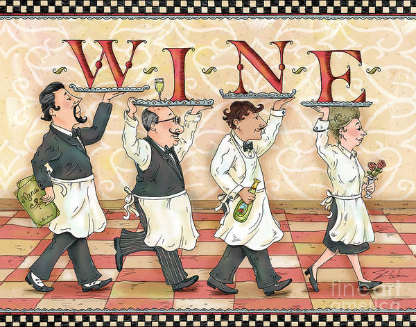 Mixed Media - Waiters Wine by Shari Warren