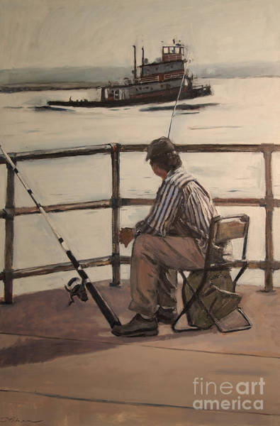 Painting - Waiting At Castle Island by Deb Putnam