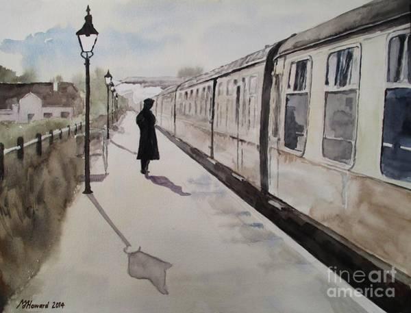 Platform Painting - Waiting At Williton by Martin Howard