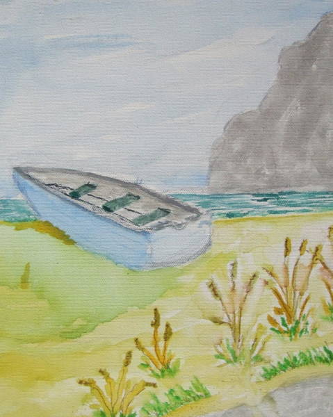 James Johnson Painting - Waiting Boat by James  Johnson