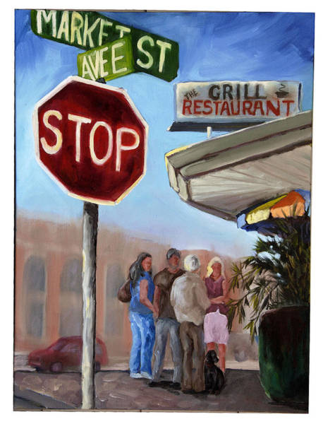 Wall Art - Painting - Waiting For A Table by Susan Richardson