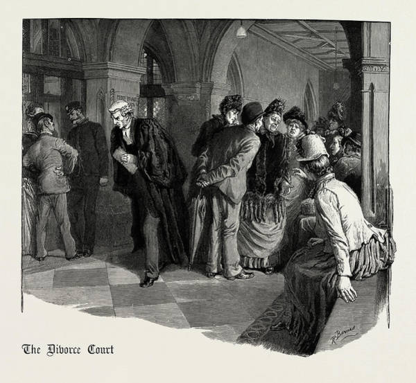 Wall Art - Drawing - Waiting For Admission To The Divorce Court 1889 by Litz Collection