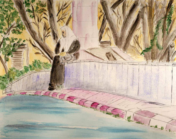Painting - Waiting For Her Ride - Jerusalem by Linda Feinberg