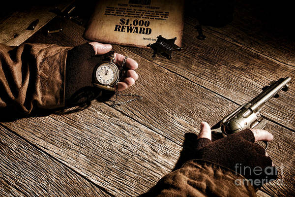 Gunfight Wall Art - Photograph - Waiting For High Noon by Olivier Le Queinec