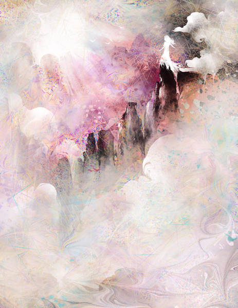 Depressed Digital Art - Waiting For My Angel by Rachel Christine Nowicki