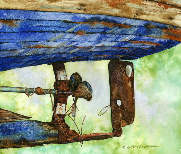 Rudder Painting - Waiting For Russel by Marguerite Chadwick-Juner