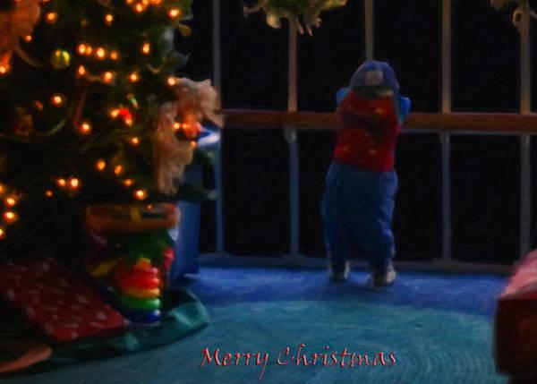 Digital Art - Waiting For Santa - Christmas Card by Chris Flees
