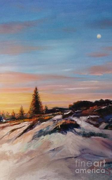 Painting - Waiting For Sunrise by Kathy  Karas