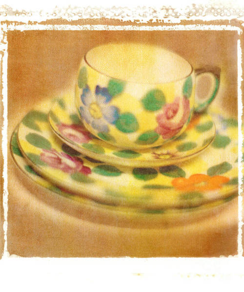 Saucer Photograph - Waiting For Tea by Rebecca Cozart