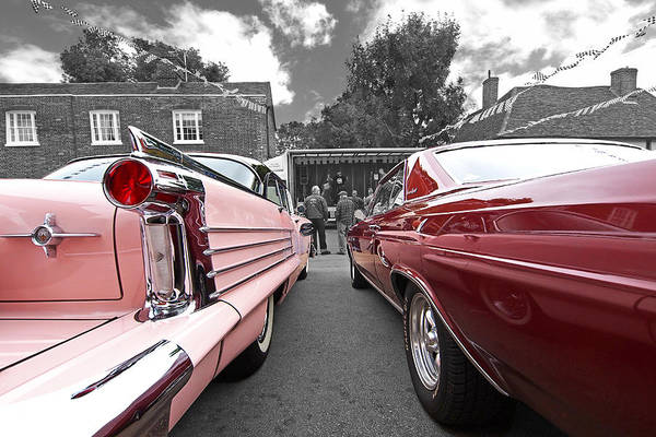 Photograph - Waiting For The Band To Start 58 Oldsmobile And 65 Buick by Gill Billington
