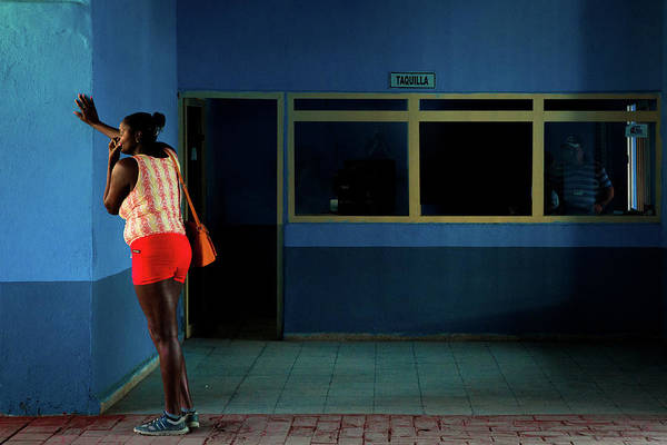 Trinidad Wall Art - Photograph - Waiting For The Bus by Inge Schuster