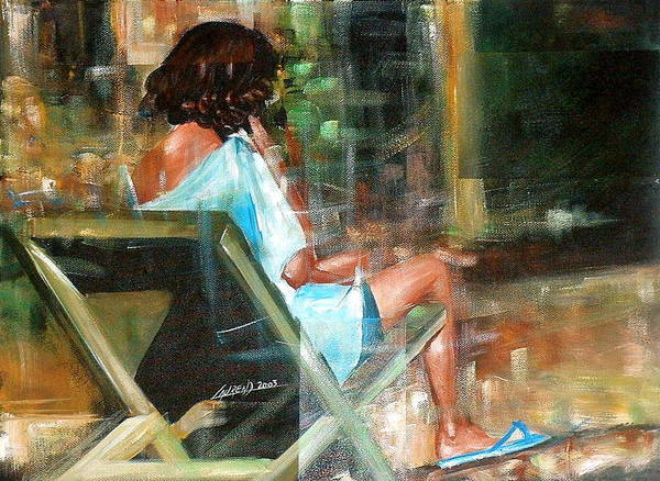 Painting - Waiting For The Call by Laurend Doumba