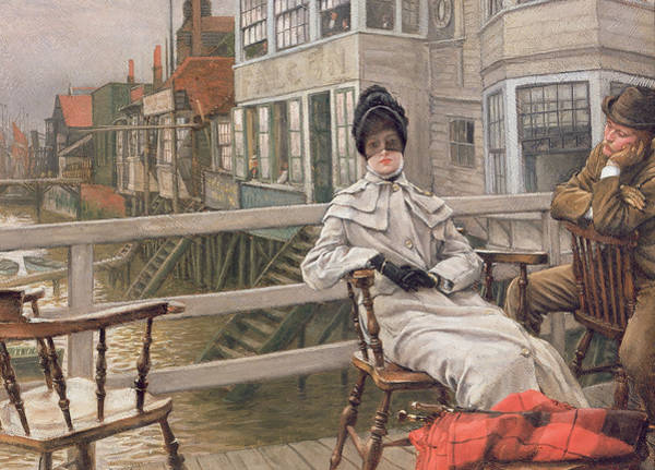 Painting - Waiting For The Ferry by James Jacques Joseph Tissot