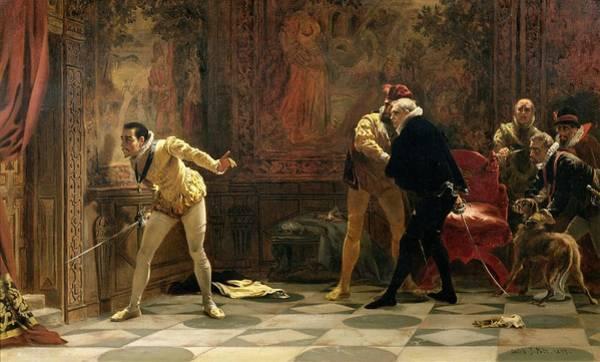 Elizabethan Wall Art - Painting - Waiting For The Kings Favourite, 1877 by Laslett John Pott
