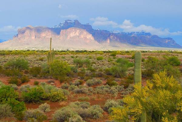 Photograph - $250 - 16x20 Canvas - Superstition Mountain Light by Tam Ryan