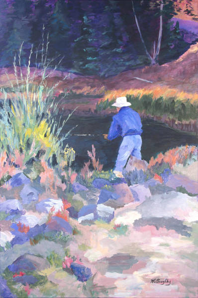 Grand Mesa Painting - Waiting For The Strike by Joan Willoughby