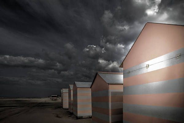 Sheds Photograph - Waiting For The Sun Lovers by Gilbert Claes