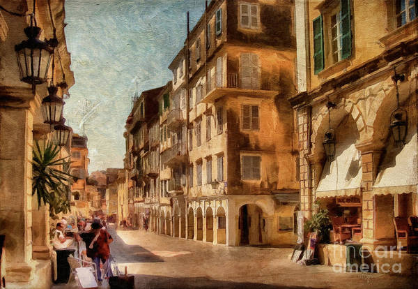 Old Town Digital Art - Waiting For The Tourists Painterly by Lois Bryan