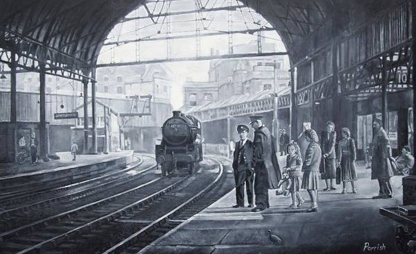 Wall Art - Photograph - Waiting For The Train, 2008 Oils by Kevin Parrish