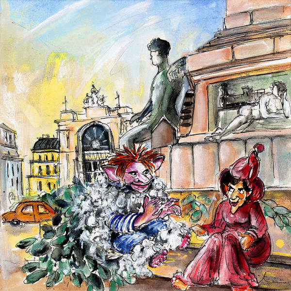 Painting - Waiting For The Train In Budapest by Miki De Goodaboom