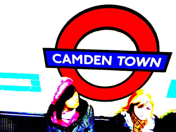 Wall Art - Photograph - Waiting For The Train In Camden Town London  by Funkpix Photo Hunter